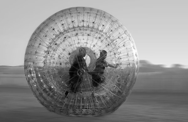 Zorb Ball in Motion