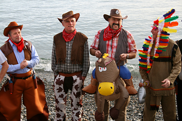 Cowboys and Indians at Laxey Dip