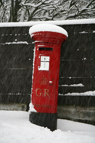 Snow Day Post Box