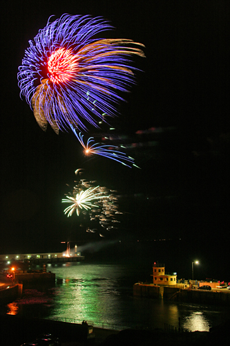 Fireworks over Peel